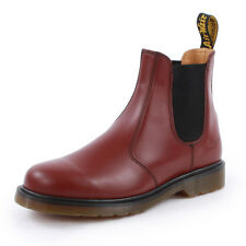 Dr. Martens 2976 Mens Slip On Leather New Shoes Chelsea Boots Cherry Red