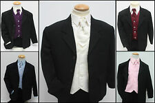 Boys Suits 5 Piece Black Suit Wedding Page Boy Formal Party (0-3 to 14 Yrs)
