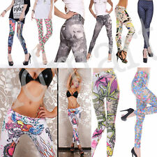Warm Winter Women Lady Punk Funky Leggings Stretchy Tight Pencil Slinky Pants