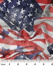 American Flag Fabric Old Glory Red White & Blue Patriotic July 4th Independence