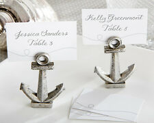 Beach Summer Nautical Anchor Table Place Card Photo Holder Bridal Wedding Favor