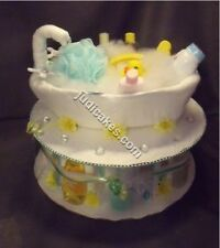 Rubber Duck Tub Baby Shower Theme Diaper Cake Gift Boy Girl Neutral Ducky Bath