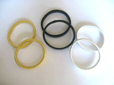 SHIRT SLEEVE HOLDERS PACK OF 2 METAL STRECHY GARTER ARMBANDS GOLD/SILVER/BLACK