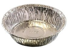 "4"" Medium Aluminum Foil Mini-Pot PieTart Pan - Disposable Food Cake Baking Tins"