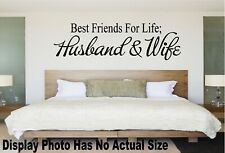Best Friends For Life Husband Wife Bedroom Wall Quote Vinyl Decal Saying Sticker
