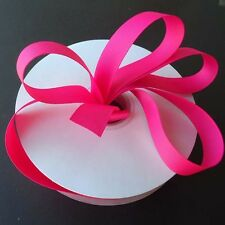 SHOCKING PINK Grosgrain Ribbon Roll ASSORTED WIDTHS For Sewing & Decorating
