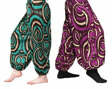 ॐ BAGGY PANTS ॐ trousers HAREM aladdin YOGA cotton HIPPY indian ✈ FAST DELIVERY