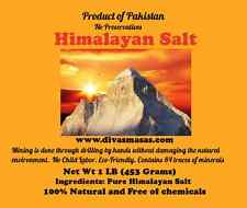 ORGANIC HIMALAYAN SALT (COARSE OR FINELY GRANULATED) (SEE SIZE CHART)