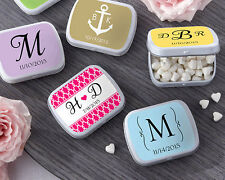 PRICE REDUCTION! Personalized Tin Birthday Bridal Wedding Favor w/ Heart Mints
