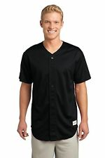 Sport-Tek NEW Mens Dri-Fit Tough Mesh Full-Button Baseball Jersey Shirt ST220