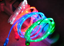 LED LIGHT-UP USB Data Sync Charging Cable charger FOR apple iphone 4S ipod 2 3 4