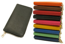 Womens Wallet Genuine Leather Zipper Multi Card Cash Coin Organizer Clutch Purse