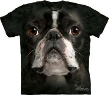 Big Face Boston Terrier T-Shirt from Mountain Company.  Dog Head Tees S-3XL NEW