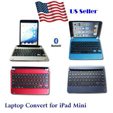 Slim Bluetooth Wireless Keyboard Case Laptop Convert Cover for Apple iPad Mini