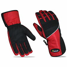 Mens Motorbike Gloves Windproof Waterproof Thermal Textile Reflective All Season