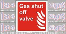 Gas shut off valve - Health & Safety Signs High Quality Interior Exterior