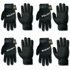 Digital Leather Police Policia Security SWAT Tactical Hatch Gloves Glove RapDom