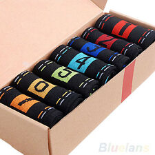 7 Pairs Men's Fashion Sports Lot Casual Dress Cotton Ankle Week Crew Socks B77U