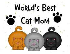 Custom Made T Shirt  Worlds Best Cat Dog Mom Choice Paws Pet Cute Adorable