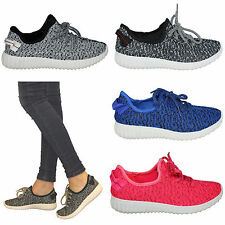 womens girls flat skate casual slip on ladies sneakers pumps skater shoes size