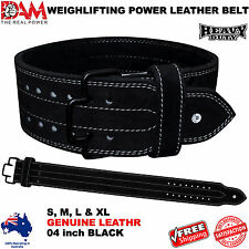 DAM Genuine Leather Gym Power Heavy Duty Weight Lifting Bodybuildying Belt