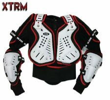 KIDS MOTOR CYCLE BIKE ATV QUAD TRAIL PIT MX RACING CE BODY ARMOUR DEFLECTOR RED