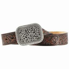 Ariat Western Womens Belt Leather Filigree Rhinestone Brown A10006957