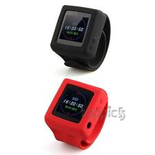 "1.4"" LCD TF Card MP3 MP4 Player FM Wrist Watch Audio Recorder Red Black"