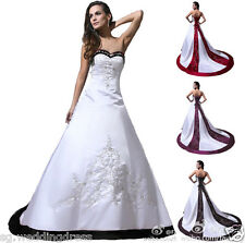FairOnly Custom Made White/Ivory Wedding Dress Bridal Gown Size 6 8 10 12 14 16+