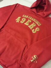 49ers All Red hoodie gold San Francisco hooded sweater football nfl SF stickers