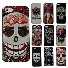 2014 HOT SALE!CHEAP Unique Skull Protector Case Cover Skin For Apple iPhone 5/5S