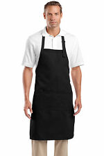 Work Shop Apron - Heavyweight 8-ounce Adjustable Bib Apron 3 Pockets in 5 Colors