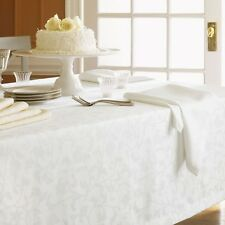 SFERRA EASY CARE ORCHARD TABLECLOTH IN IVORY COLOR