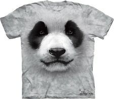 Big Face Panda T-Shirt by The Mountain. Giant Head Cute Animals Sizes S-5XL NEW