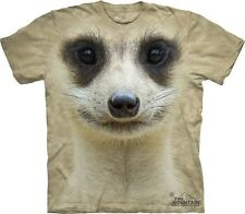 Big Face Meerkat T-Shirt by The Mountain. Giant Head Animals Sizes S-5XL NEW