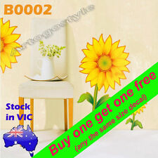 Wall Decal Sticker Sunflower flower Window furniture living room B0002 Removable