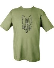 SAS Special Air Service T Shirt Large Print Army Military Green