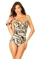 MIRACLESUIT RIALTO MIRACLE SNOW LEOPARD SWIM SUIT SLIMMIMNG SWIMMING COSTUME