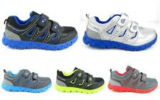Kid's Boy's Light Weight Velcro Sneakers Athletic Tennis Shoes Running Walking