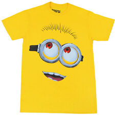 Despicable Me Minion Big Face Adult T-Shirt New