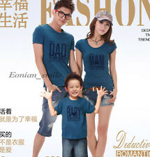 New Lovers MOM DAD BABY Kids Family T-Shirt Summer Lycra Stretch Cotton QYA6208