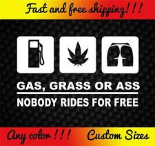 Cash Grass Decal Sticker Funny Car Truck Honda Jdm Import Subaru Mazda Nissan
