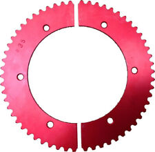#35 SPROCKET (FOR USE WITH #35 CHAIN) GO KART RACING RLV ALUMINUM 2-PIECE - RED