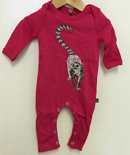 ANIMAL TAILS ORGANIC BABY ROMPERS & T-SHIRTS - RING-TAILED LEMUR PRINT