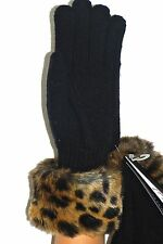 """New With Tags  Parkhurst  """"Faux Fur"""" Cuff Glove 1 Size made in Canada 21432"""