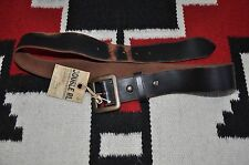 Ralph Lauren RRL Made in Italy Distressed Military Square Buckle Leather Belt