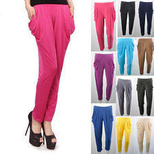 HOT Candy Colors Womens Basic New Solid Stretch Leggings capri pants Harem