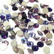 144 Swarovski 2058/2088 crystal flatbacks rhinestones PURPLE Colors Mix