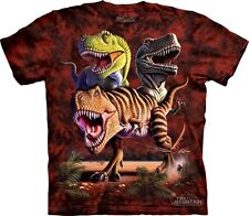 Rex Collage T-Shirt by The Mountain. T-Rex Dinosaur Tees Sizes S-5XL NEW