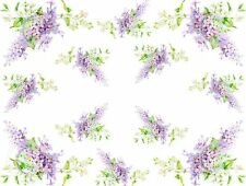 ~Vintage Shabby Light Purple Lavender Lilac Spray Waterslide Decals~FL279